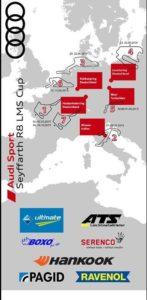 Vorläufiger Rennkalender Audi Sport Seyffarth R8 LMS Cup 2019