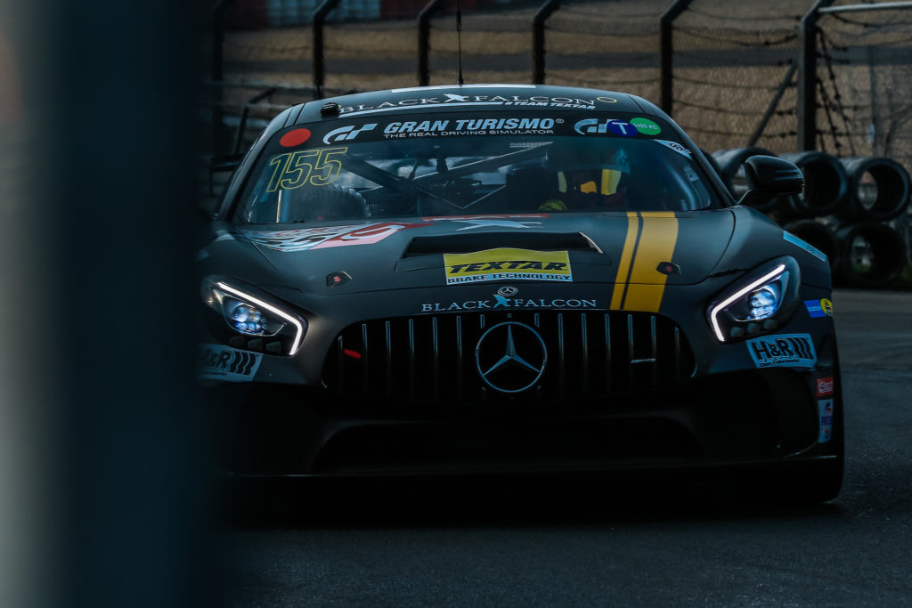 Black Falcon Mercedes AMG GT4 Mehmet Mustafa Kaya/Ace Robey/Tristan Viidas