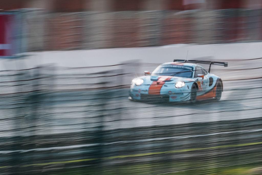 Michael Wainwright/Thomas Preining/Ben Barker Gulf Racing Porsche 911 RSR FIA WEC