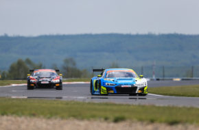 Carrie Schreiner/Dennis Marschall HCB-Rutronik Racing Audi R8 LMS ADAC GT Masters