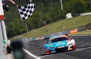 Kelvin van der Linde/Patric Niederhauser HCB-Rutronik Racing Audi R8 LMS ADAC GT Masters Most