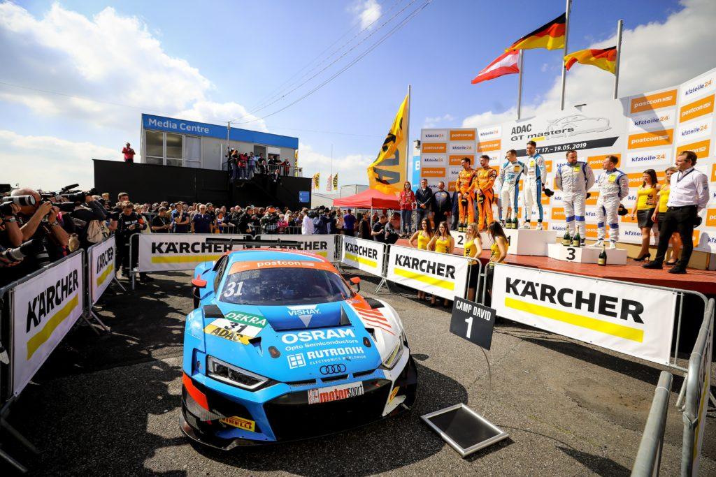 Patric Niederhauser/Kelvin van der Linde HCB-Rutronik Racing Audi R8 LMS ADAC GT Masters