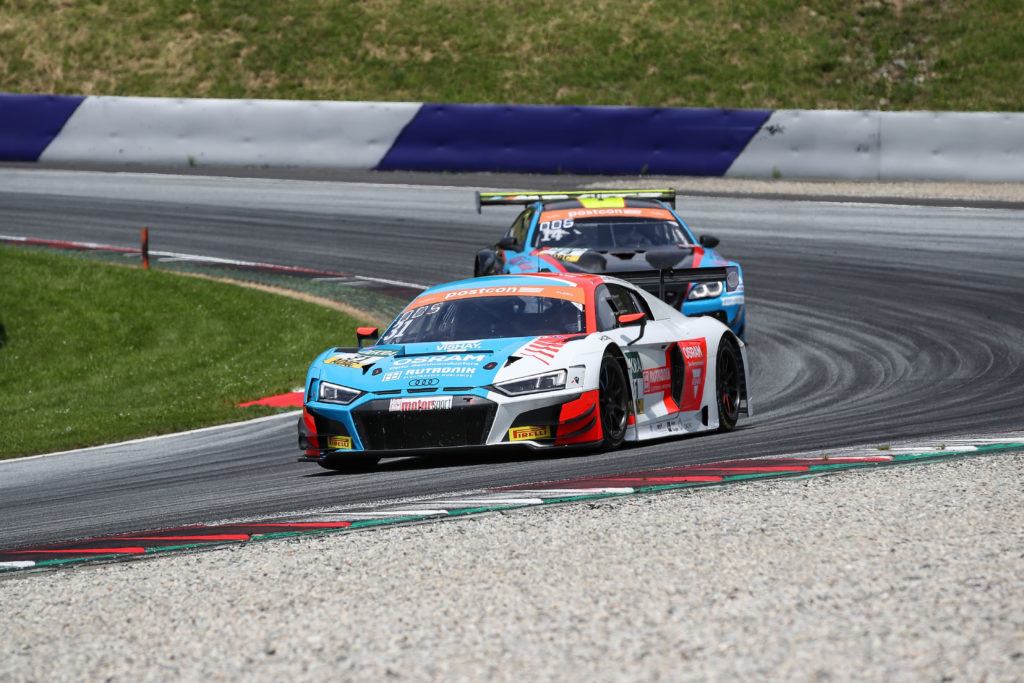 Kelvin van der Linde Patric Niederhauser HCB-Rutronik Racing Audi R8 LMS ADAC GT Masters Red Bull Ring