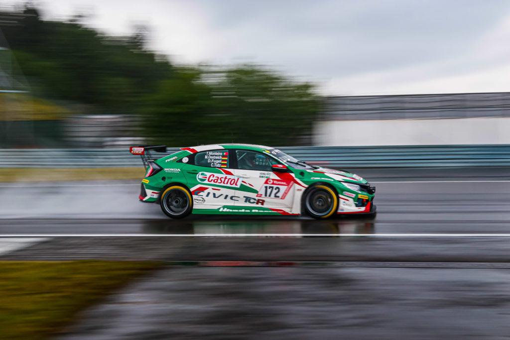 Dominik Fugel Markus Oestreich Cedric Totz Tiago Monteiro Team Castrol Honda Racing Honda Civic TCR 24h Nürburgring
