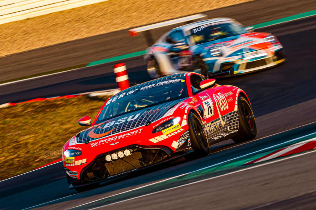 Christoph Breuer Kay van Berlo Alexander Mies Mike-David Ortmann PROpeak Performance Aston Martin Vantage GT4 24h Nürburgring