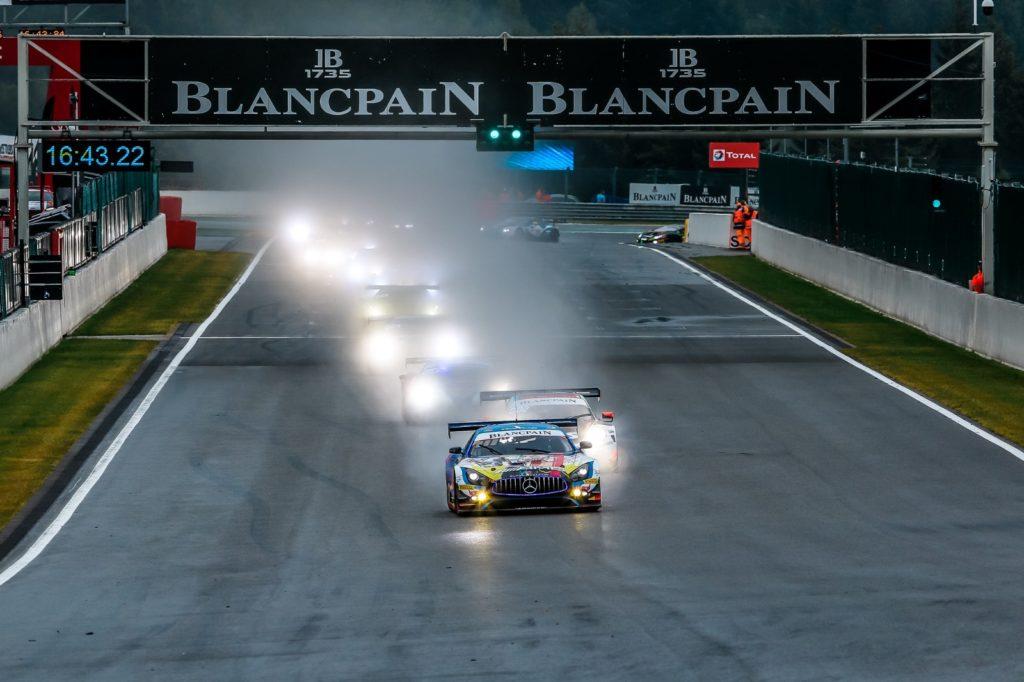 Maro Engel Yelmer Buurman Luca Stolz Mercedes-AMG Team BLACK FALCON Mercedes AMG GT3 Blancpain GT Series Endurance Cup 24h Spa