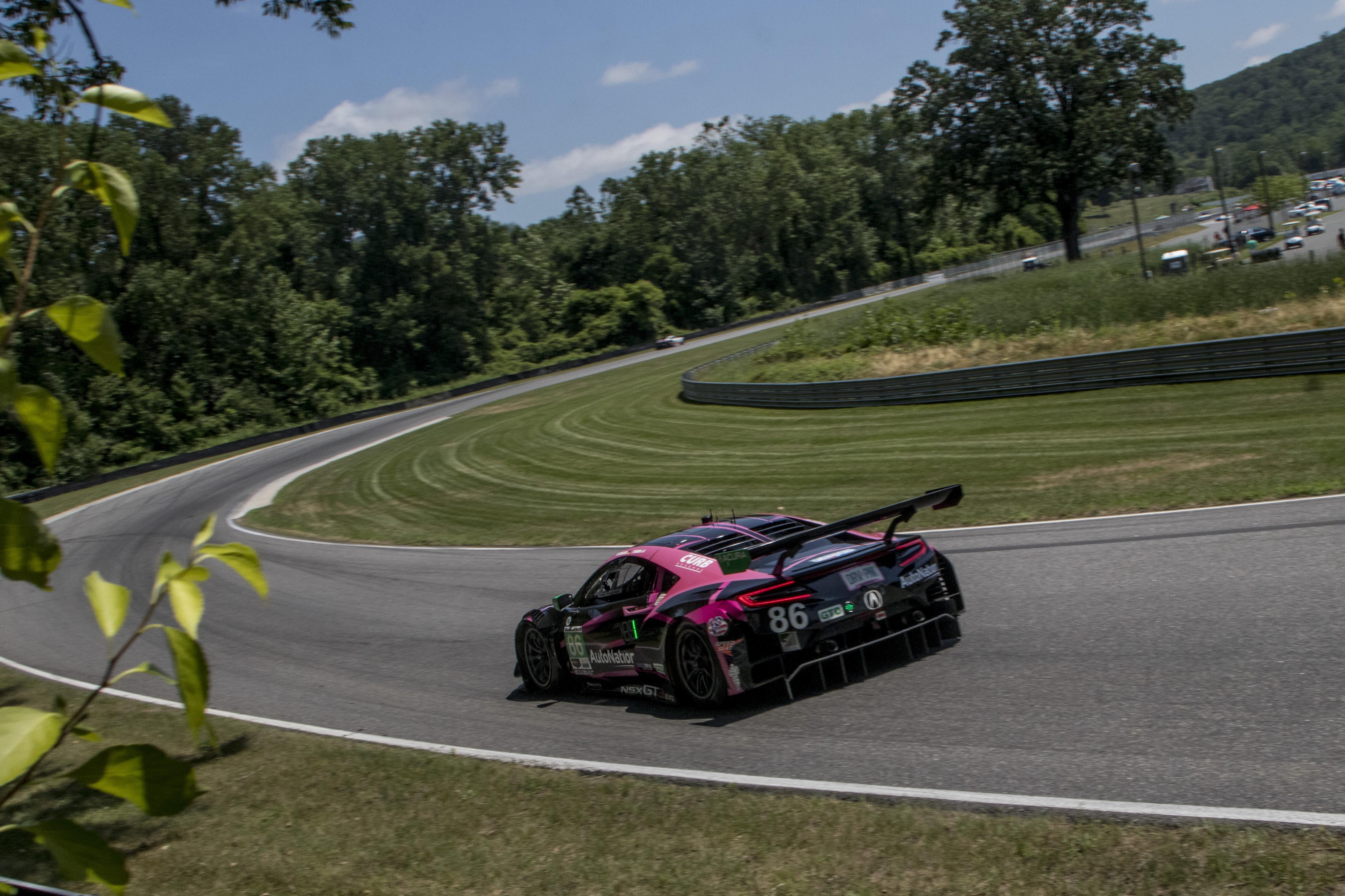 Mario Farnbacher Trent Hindman Meyer Shank Racing Acura NSX GT3 IMSA WeatherTech SportsCar Championship Lime Rock