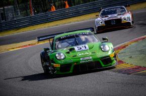 Klaus Bachler Andrea Rizzoli Zaid Ashkanani Dinamic Motorsport Porsche 911 GT3 R Blancpain GT Series Endurance Cup Test 24h Spa
