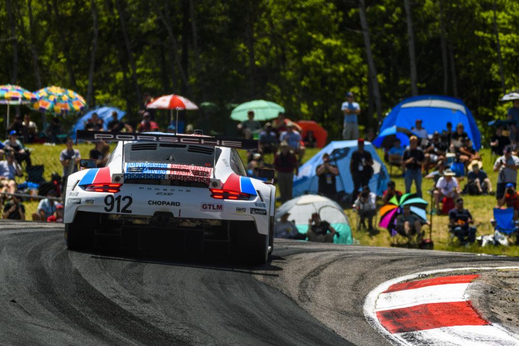 Ear, Bamber Laurens Vanthoor Porsche 911 RSR IMSA WeatherTech SportsCar Championship Canadian Tire Motorsport Park