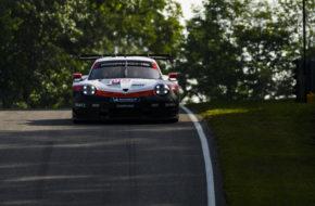 Earl Bamber Laurens Vanthoor Porsche 911 RSR IMSA WeatherTech SportsCar Championship Lime Rock Park