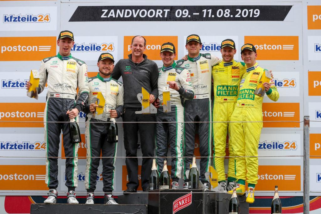 Podium Rennen 2 ADAC GT Masters Zandvoort