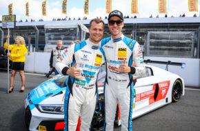 Patric Niederhauser Kelvin van der Linde HCB-Rutronik Racing Audi R8 LMS ADAC GT Masters Zandvoort