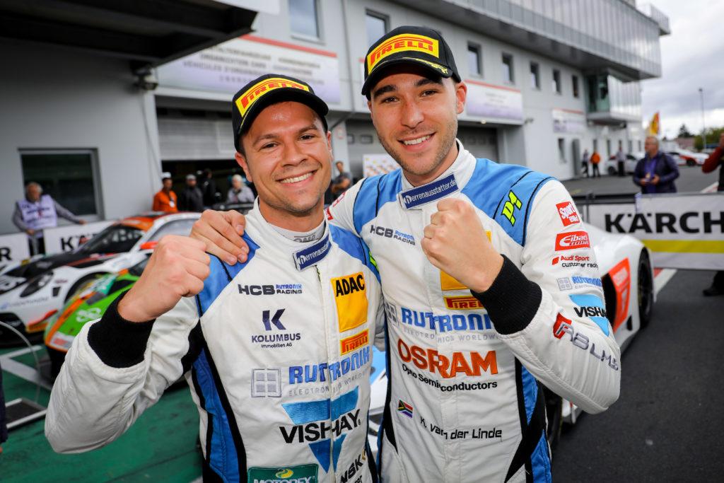 Patric Niederhauser Kelvin van der Linde ADAC GT Masters Nürburgring