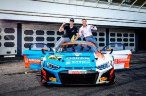 Kelvin van der Linde Patric Niederhauser HCB-Rutronik Racing Audi R8 LMS ADAC GT Masters Hockenheim