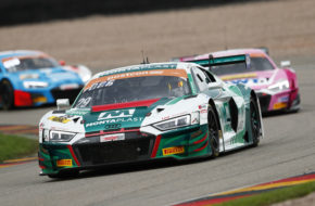 Max Hofer Christopher Mies Montaplast by Land-Motorsport Audi R8 LMS ADAC GT Masters Sachsenring