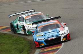 Kelvin van der Linde Patric Niederhauser HCB-Rutronik Racing Audi R8 LMS ADAC GT Masters Sachsenring