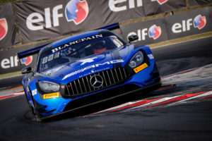 Luca Stolz Maro Engel Black Falcon Mercedes AMG GT3 Blancpain GT World Challenge Europe Budapest