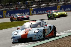Michael Wainwright Ben Barker Andrew Watson Gulf Racing Porsche 911 RSR FIA WEC Silverstone