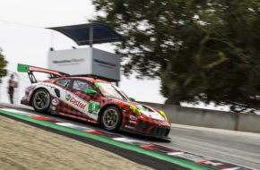 Zacharie Robichon Scott Hargrove Pfaff Motorsports Porsche 911 GT3 R IMSA WeatherTech SportsCar Championship Laguna Seca