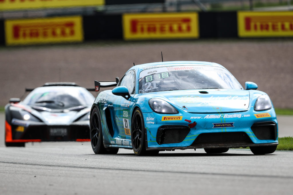 Jan Kasperlik Lars Kern Allied-Racing Porsche Cayman GT4 ADAC GT4 Germany Sachsenring