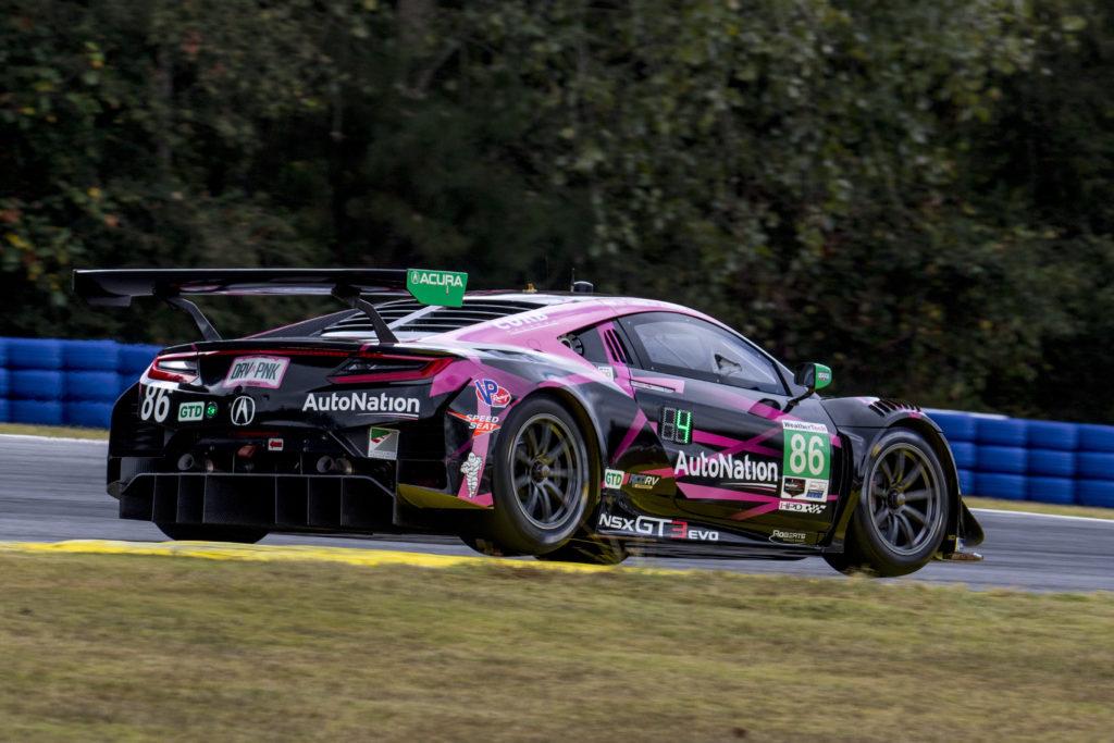 Mario Farnbacher Trent Hindman Justin Marks Meyer Shank Racing Acura NSX GT3 IMSA WeatherTech SportsCar Championship Petit Le Mans