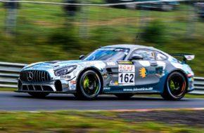 Tim Scheerbarth Tobias Müller Tristan Viidas Black Falcon Team Identica Mercedes AMG GT4 VLN Nürburgring