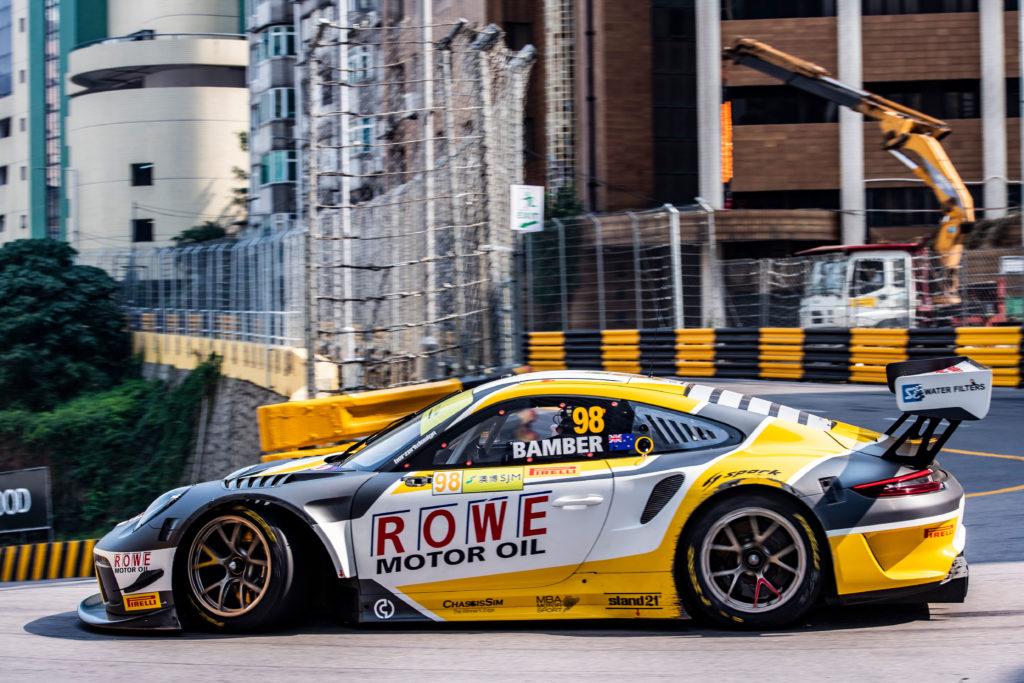 Earl Bamber ROWE Racing Porsche 911 GT3 R FIA GT World Cup Macau