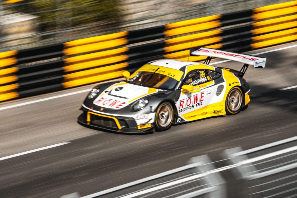 Laurens Vanthoor ROWE Racing Porsche 911 GT3 R FIA GT World Cup Macau