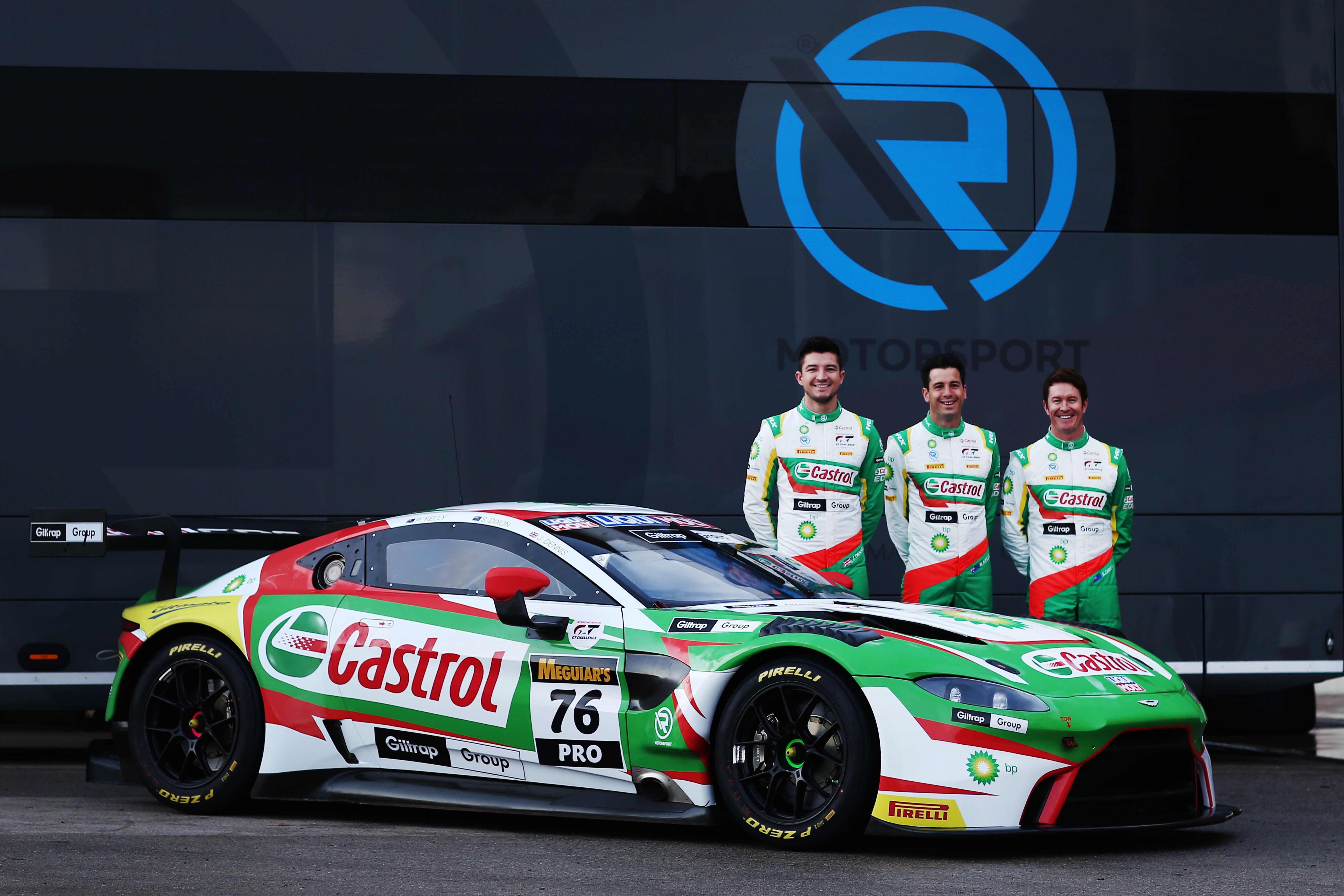Jake Dennis Rick Kelly Scott Dixon R-Motorsport Aston Martin Vantage GT3
