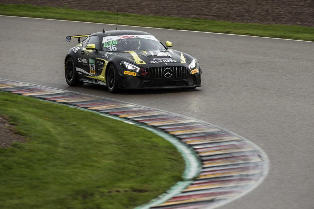 Marvin Dienst Markus Suabo Schütz Motorsport Mercedes AMG GT4 ADAC GT4 Germany Sachsenring