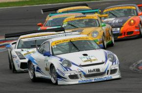 Tim Bergmeister Jörg Bergmeister Mühlner Motorsport Porsche 911 GT3 Cup S ADAC GT Masters Lausitzring