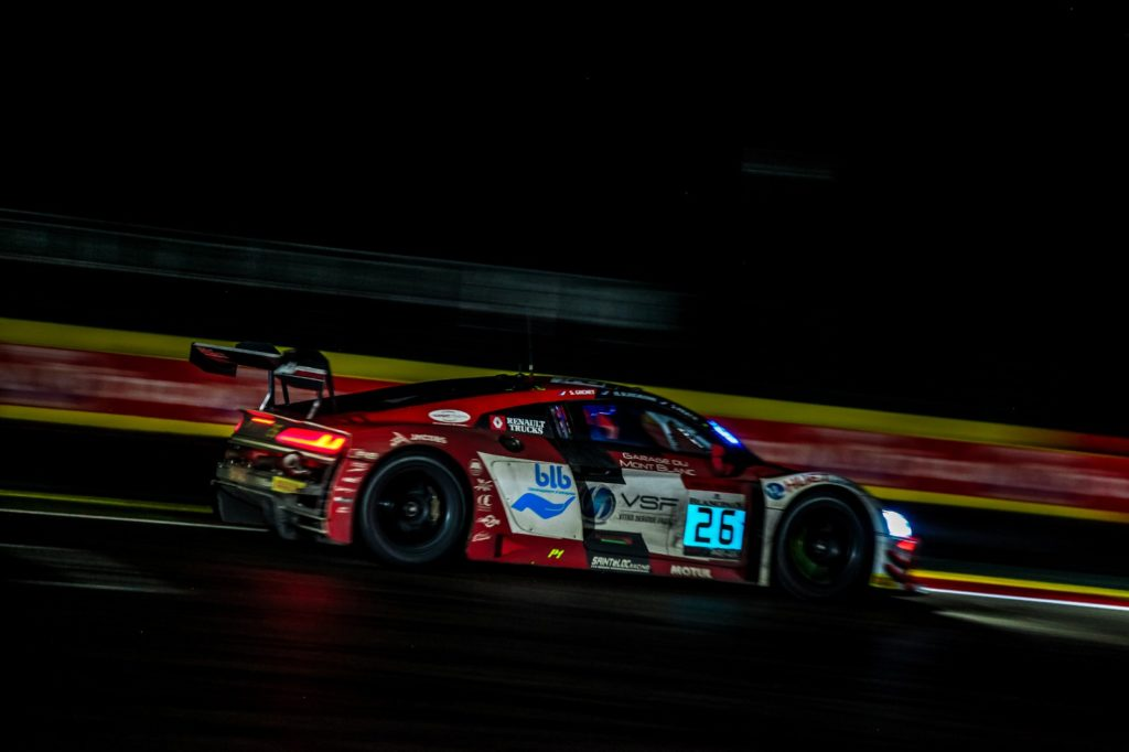 Pierre-Yves Paque Michael Blanchemain Simon Gachet Steven Palette Saintéloc Racing Audi R8 LMS 24h Spa