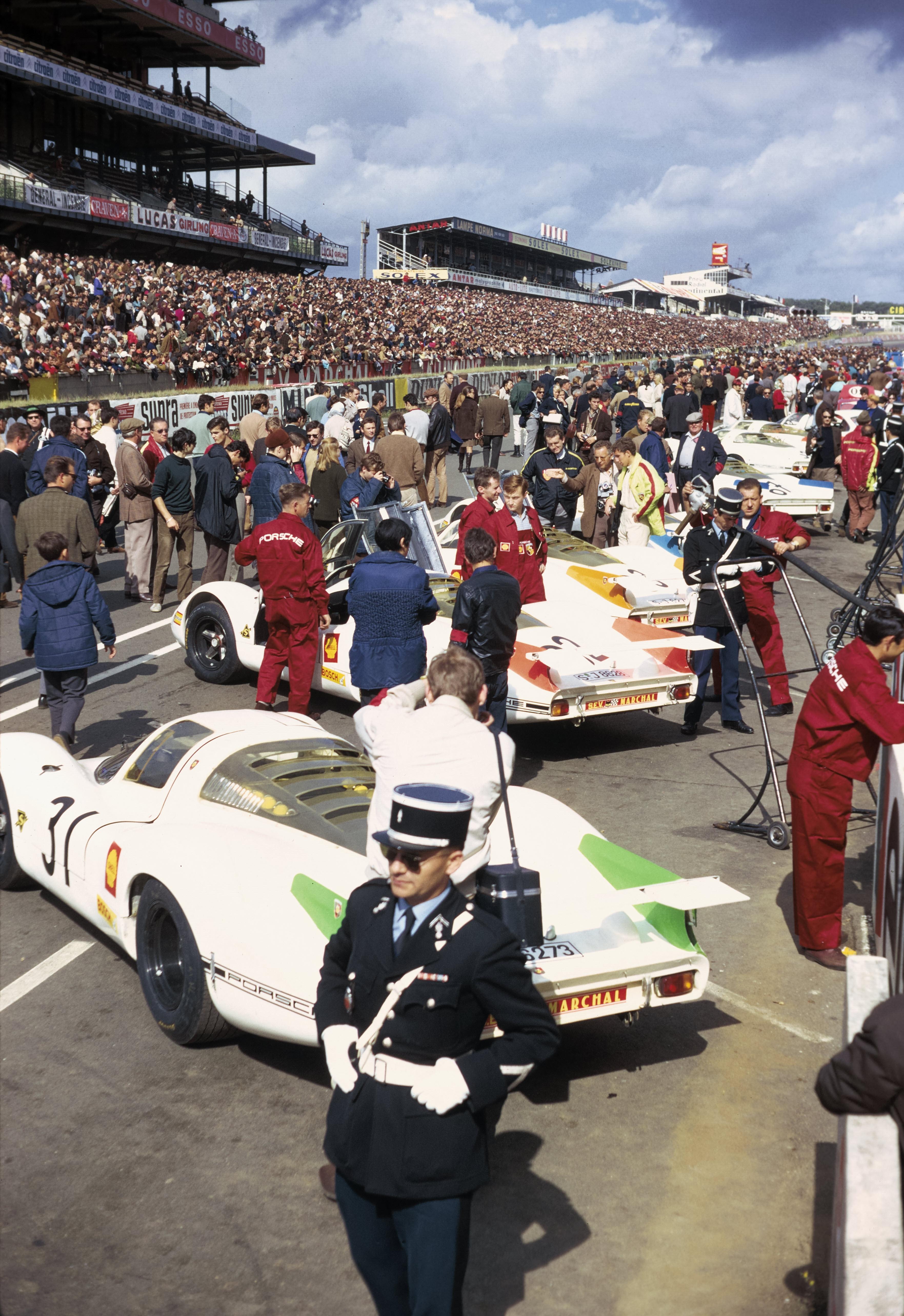Porsche Typ 908 LH Coupé in Le Mans 1968