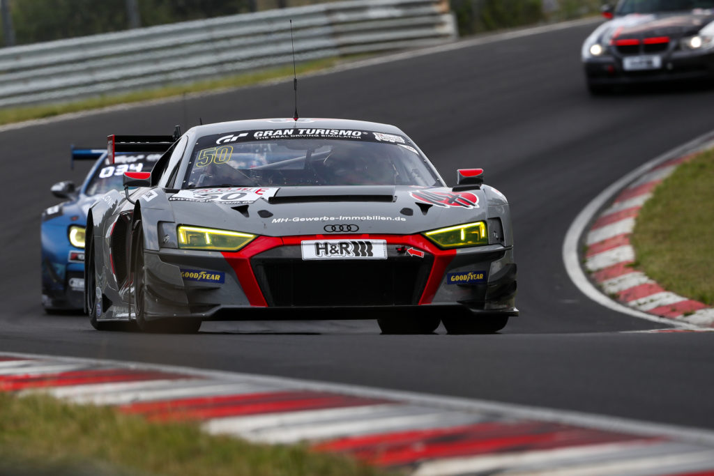 Arno Klasen Rudi Adams Michael Heimrich équipe vitesse Audi R8 LMS GT3 Nürburgring Langstrecken-Serie Nürburgring-Nordschleife