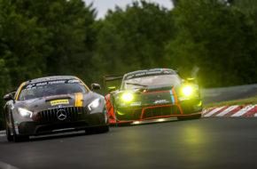 Tristan Viidas Stephan Rösler Black Falcon Team Textar Mercedes AMG GT4 Nürburgring Langstrecken-Serie Nürburgring-Nordschleife