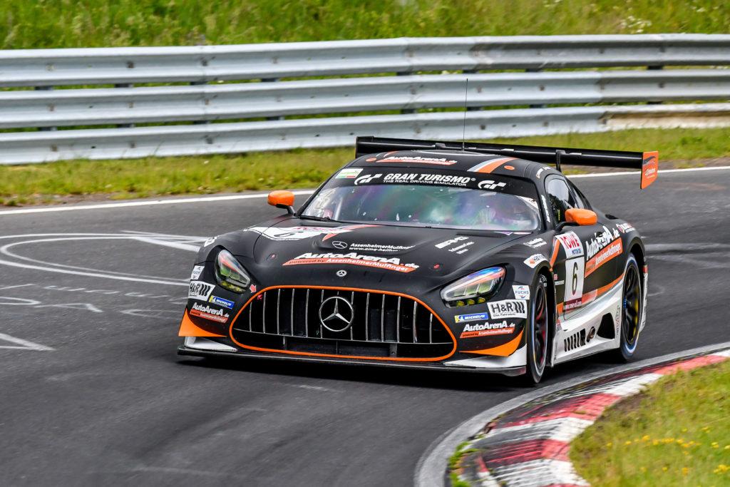 Patrick Assenheimer Maro Engel AutoArenA Motorsport Black Falcon Mercedes AMG GT3 Nürburgring Langstrecken-Serie Nürburgring-Nordschleife