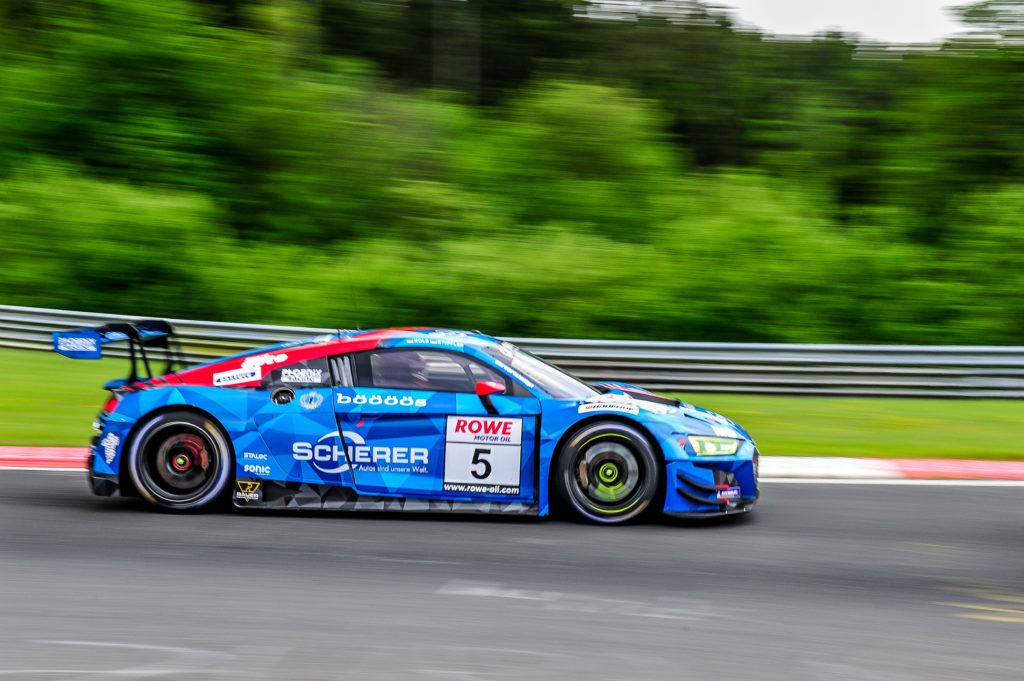 Vincent Kolb Frank Stippler Phoenix Racing Audi R8 LMS GT3 Nürburgring Langstrecken-Serie Nürburgring-Nordschleife