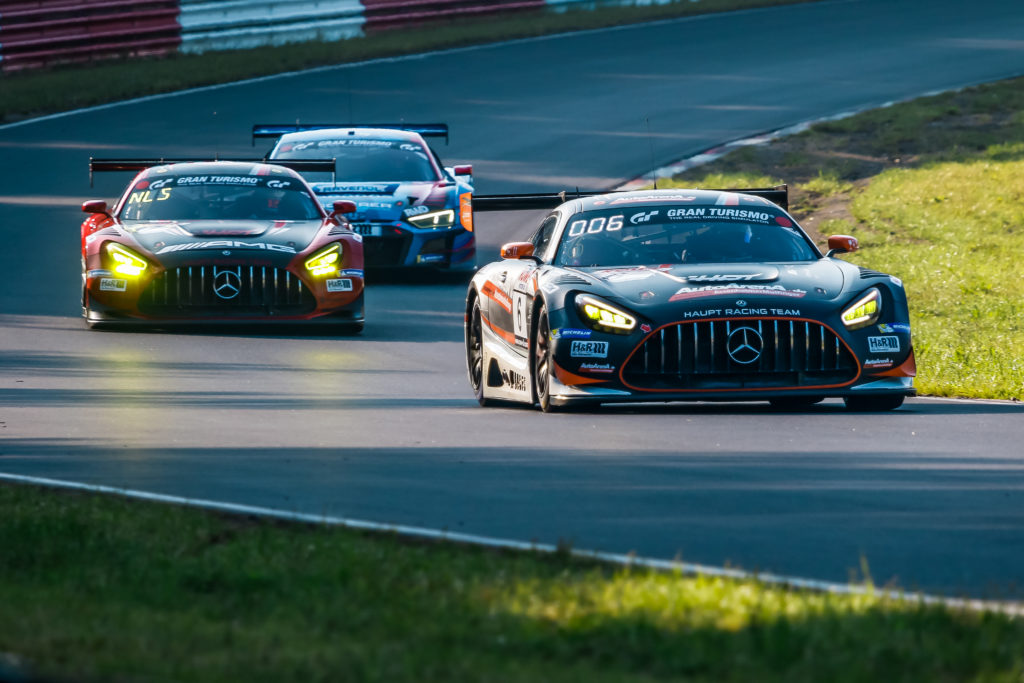 Patrick Assenheimer Dominik Baumann Dirk Müller Haupt Racing Team Mercedes AMG GT3 Nürburgring Langstrecken-Serie Nürburgring-Nordschleife