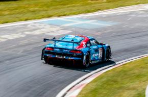 Vincent Kolb Frank Stippler Richard Westbrook Phoenix Racing Audi R8 LMS GT3 Nürburgring Langstrecken-Serie Nürburgring-Nordschleife