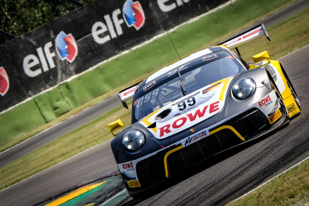 Dirk Werner Klaus Bachler Julien Andlauer ROWE Racing Porsche 911 GT3 R GT World Challenge Europe Endurance Cup Imola