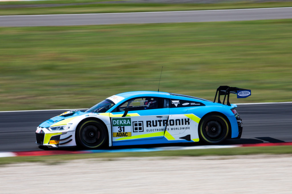 Kelvin van der Linde Patric Niederhauser Rutronik Racing Audi R8 LMS GT3 ADAC GT Masters Lausitzring