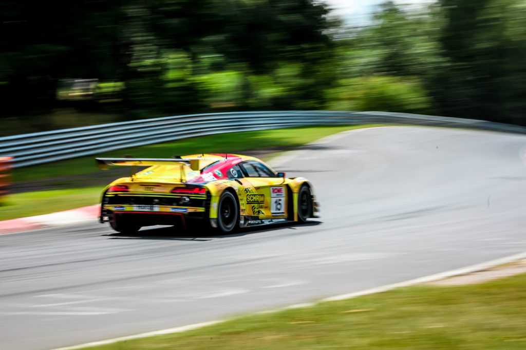 Michele Beretta Kim-Luis Schramm Mike Rockenfeller Phoenix Racing Audi R8 LMS GT3 Nürburgring Langstrecken-Serie Nürburgring-Nordschleife
