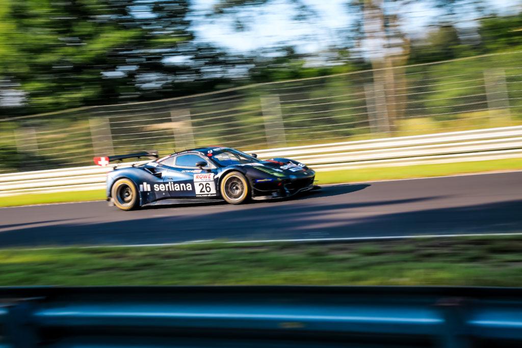 Björn Grossmann Jonathan Hirschi Luca Ludwig Simon Trummer Octane 126 Ferrari 488 GT3 Nürburgring Langstrecken-Serie Nürburgring-Nordschleife