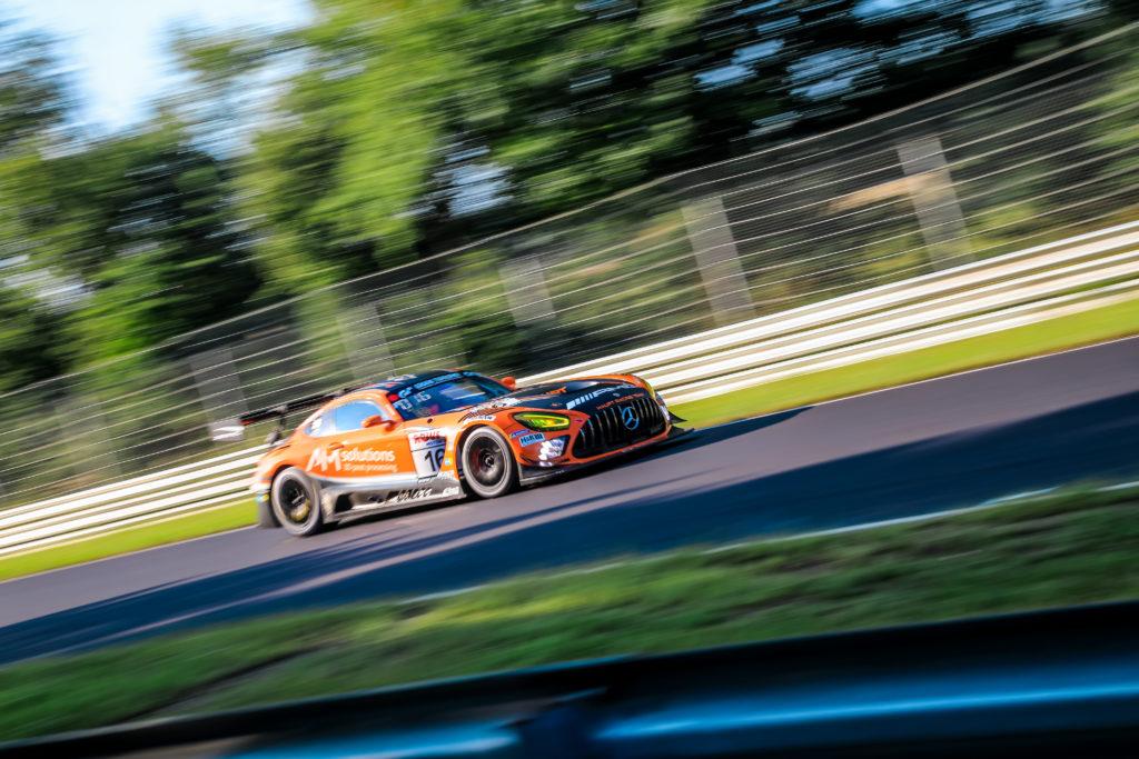 Maro Engel Manuel Metzger Adam Christodoulou Luca Stolz Haupt Racing Team Mercedes AMG GT3 Nürburgring Langstrecken-Serie Nürburgring-Nordschleife