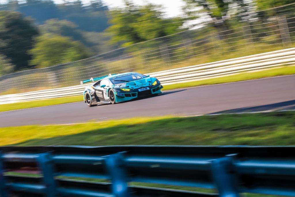 Axcil Jefferies Michele Di Martino Marco Mapelli Konrad Motorsport Lamborghini Huracan GT3 Nürburgring Langstrecken-Serie Nürburgring-Nordschleife