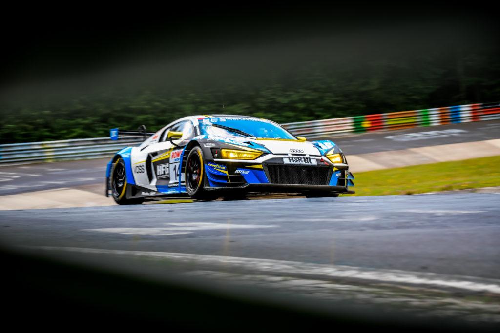 Bernhard Henzel Rahel Frey Christian Bollrath RaceIng - powered by HFG Audi R8 LMS GT3 Nürburgring Langstrecken-Serie Nürburgring-Nordschleife