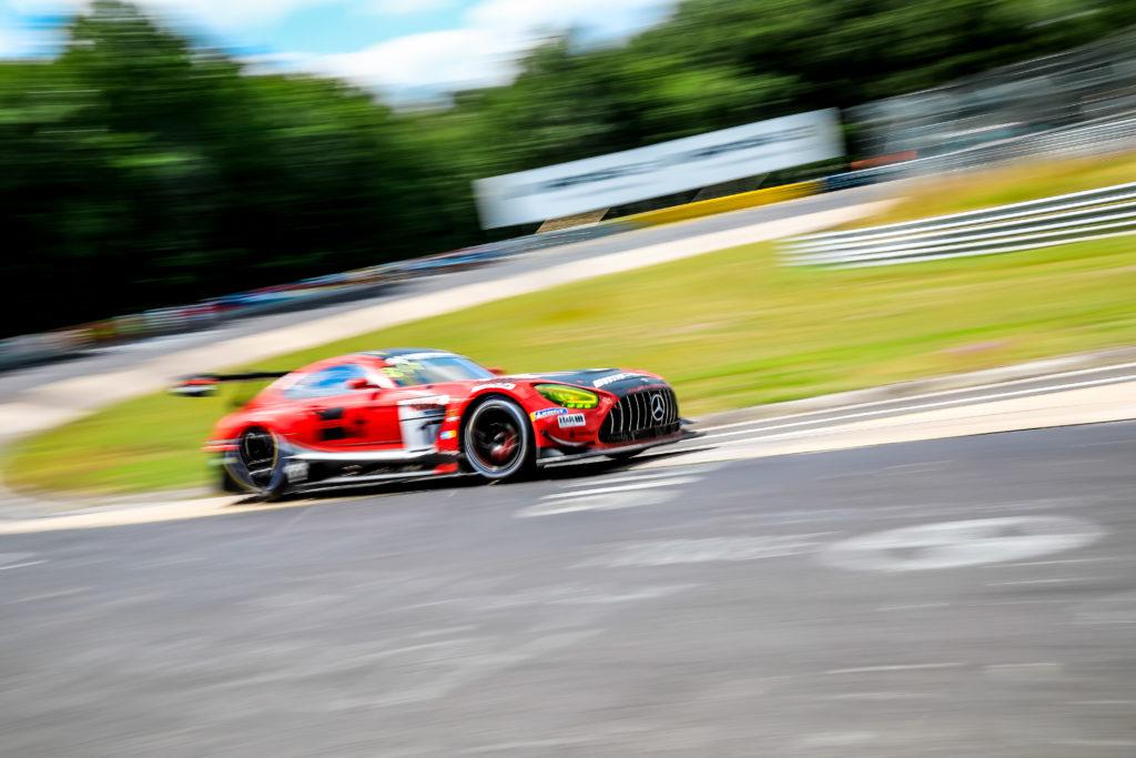 Hubert Haupt Yelmer Buurman Nico Bastian Haupt Racing Team Mercedes AMG GT3 Nürburgring Langstrecken-Serie Nürburgring-Nordschleife