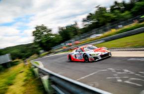 Kelvin van der Linde Christopher Mies Mattia Drudi Audi Sport Team Land-Motorsport Nürburgring Langstrecken-Serie Nürburgring-Nordschleife