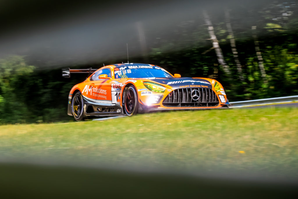 Maro Engel Manuel Metzger Adam Christodoulou Luca Stolt Haupt Racing Team Mercedes AMG GT3 Nürburgring Langstrecken-Serie Nürburgring-Nordschleife