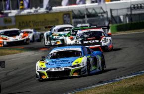 Patric Niederhauser Kelvin van der Linde Rutronik Racing Audi R8 LMS GT3 ADAC GT Masters Hockenheim